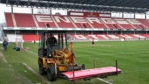 Schäden am Cottbuser Stadion - Freude über andere Ergebnisse