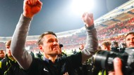 """""""Die Belastung einer Relegation ist schon grenzwertig"""": Eintracht-Trainer Niko Kovac."""