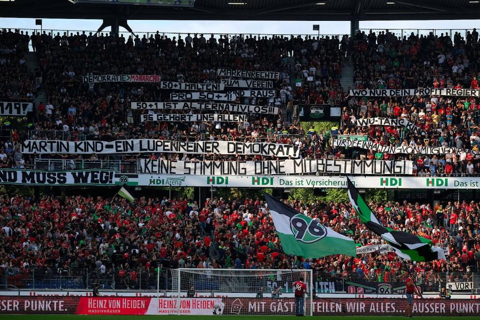 Die Proteste gehen weiter: Die Fans von Hannover 96 lassen sich von Erfolgen nicht beirren