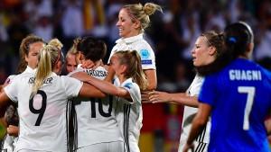 DFB-Frauen mühen sich Richtung Viertelfinale