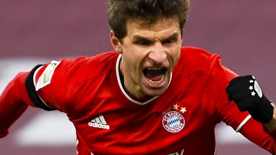 Immer hinter dem Ball her: Thomas Müller ist der Anführer des FC Bayern.