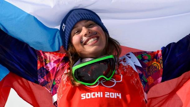 Samkova siegt mit Schnurrbart