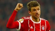 Bayrischer Torschütze: Thomas Müller erzielte den zweiten Treffer gegen Dortmund.