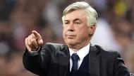 """Carlo Ancelotti ist angezählt, aber selbstbewusst: """"Ich würde mir als Note eine Eins geben, aber letzten Endes ist es der Club, der meine Arbeit bewerten muss"""""""