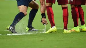 Freistoßspray doch nicht zum Bundesligastart