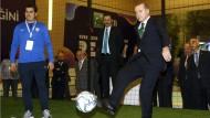 Staatspräsident Erdogan war früher selbst Fußballspieler.