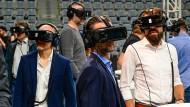 Virtuelle Welt: Mit Brille ist ein anderer Blick auf den Handball möglich.