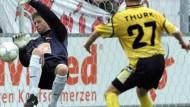 So war es früher, so wird's wieder sein: Michael Thurk im Mainzer Trikot