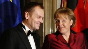 Merkel und Tusk reden über Steinbach - und schweigen