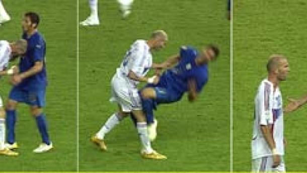 Drei Spiele Sperre für Zidane