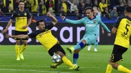 Glänzt auf der großen Bühne: Mats Hummels im Duell mit Barcelonas Stürmer Antoine Griezmann.