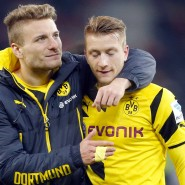Ciro Immobile (links) und Marco Reus sind mit Dortmund vorerst Letzter