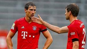 Verändert und verbessert: Leon Goretzka (links, mit Thomas Müller) hat seinen Platz in München gefunden.