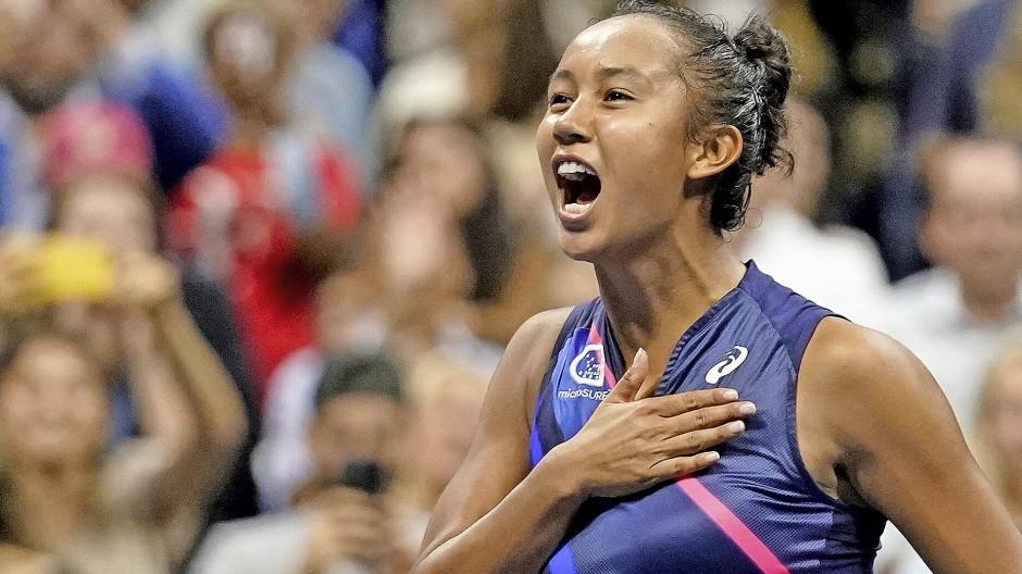 Mit viel Schwung und Begeisterung ins Finale: Leylah Fernandez