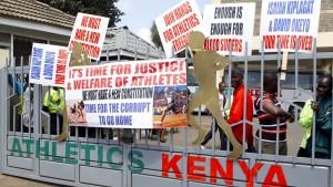 Kenias Läufer besetzen Verbandszentrale