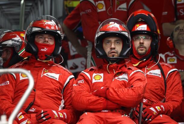 Mäßig begeistert: Bei Ferrari ist die Laune verbesserungsfähig