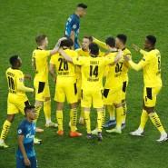 Am Ende lachen die Dortmunder: Arbeitssieg in St. Petersburg gelungen.