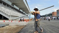 Was geht noch? Rund drei Wochen vor dem Rennen liegt in Korea immer noch kein Rennasphalt (Foto vom 4. September)