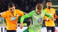 Kein Sieger am Sonntagabend: Wolfsburg und Hoffenheim spielen 1:1.