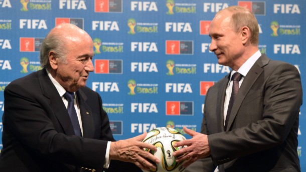 Skandal im Fußball-Weltverband: Putin stellt sich hinter Blatter