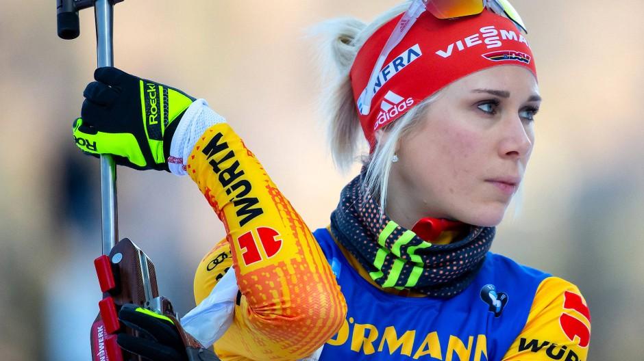 Karolin Horchler erreicht mit der Staffel den vierten Platz, ist aber die Gewinnerin des Tages.