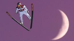 Skispringer im Parlament