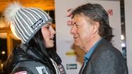Bei der WM in Vail 2015 war die Welt noch in Ordnung: Doppel-Weltmeisterin Anna Fenninger (l.) und Präsident Peter Schröcksnadel