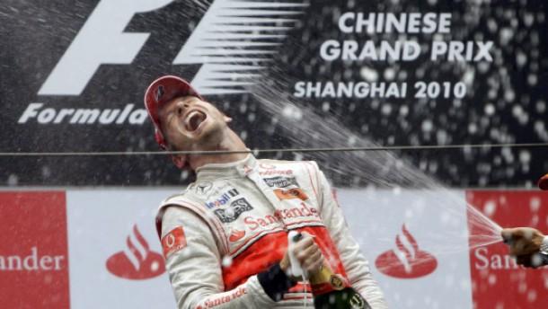 Button und Hamilton im Regen eine Klasse für sich