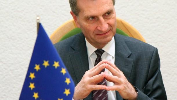 Oettinger bezeichnet EU als Sanierungsfall