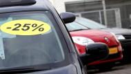 Ein gewohntes Bild: Rabatte beim Autokauf sind inzwischen die Regel