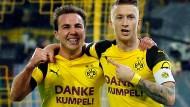 Danke, Kumpel: Mario Götze (links) legt Marco Reus zum Siegtor auf.