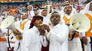 Kein Platz für deutsche Fans: Hier haben sich die Qatarer breit gemacht