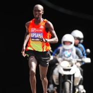 Konnte nicht schnell genug weglaufen: Marathon-Läufer Kipsang.