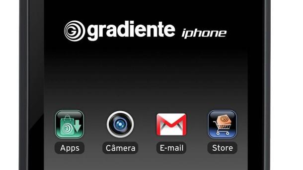 Heißt iPhone, sieht aus wie ein iPhone, ist aber nicht von Apple: das iPhone von Gradiente
