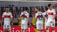 Ein Unentschieden, dass sich wie eine Niederlage anfühlt: Stuttgarter Spieler nach dem 2:2 gegen Union Berlin.
