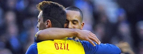 Torschützen unter sich: Mesut Özil und Theo Walcott