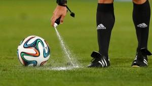 Freistoßspray wird auch bei der WM eingesetzt