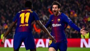 Zwei Beinschüsse von Messi