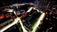Wenn es dunkel wird in Singapur, dröhnen an diesem Wochenende wieder die Motoren