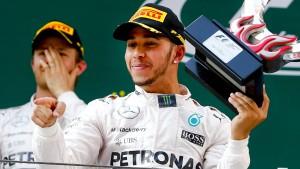 Hamilton stichelt gegen Rosberg
