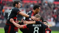Fröhliche Rheinländer: Leverkusen setzt sich vom Rest des Restes ab.