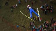 Will hoch hinaus: Severin Freund springt bei der Vierschanzentournee
