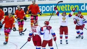 Russland zu stark für deutsche Eishockey-Herren