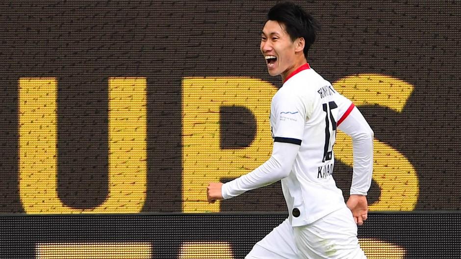 Daichi Kamada war der entscheidende Mann der Eintracht.
