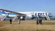 Boeings Albtraum: Ein Dreamliner am Mittwoch nach einer Notlandung im japanischen Takamatsu