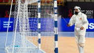 Kein neues Torwart-Trikot: Hygiene bei der Handball-WM.
