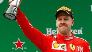 Vettel gewinnt nur das spannende Ferrari-Duell
