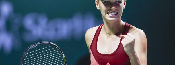 Zweites Spiel, zweiter Sieg: Caroline Wozniacki