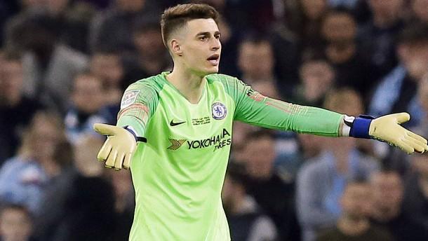 Nun bekommt Chelsea-Torwart Kepa seine Strafe