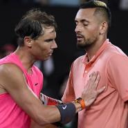 Und am Ende gewinnt der Spanien: Rafael Nadal (links) mit Nick Kyrgios
